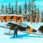 Pyry PY-24 oli Kymissä 28.2.-7.4.44 it-maalilentoja varten